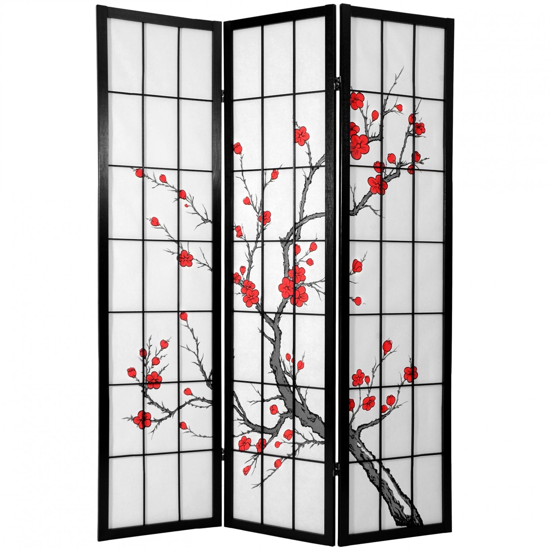 Cherry Blossom Shoji Sliding Door Kit6 ft tall cherry blossom shoji screen roomdividers