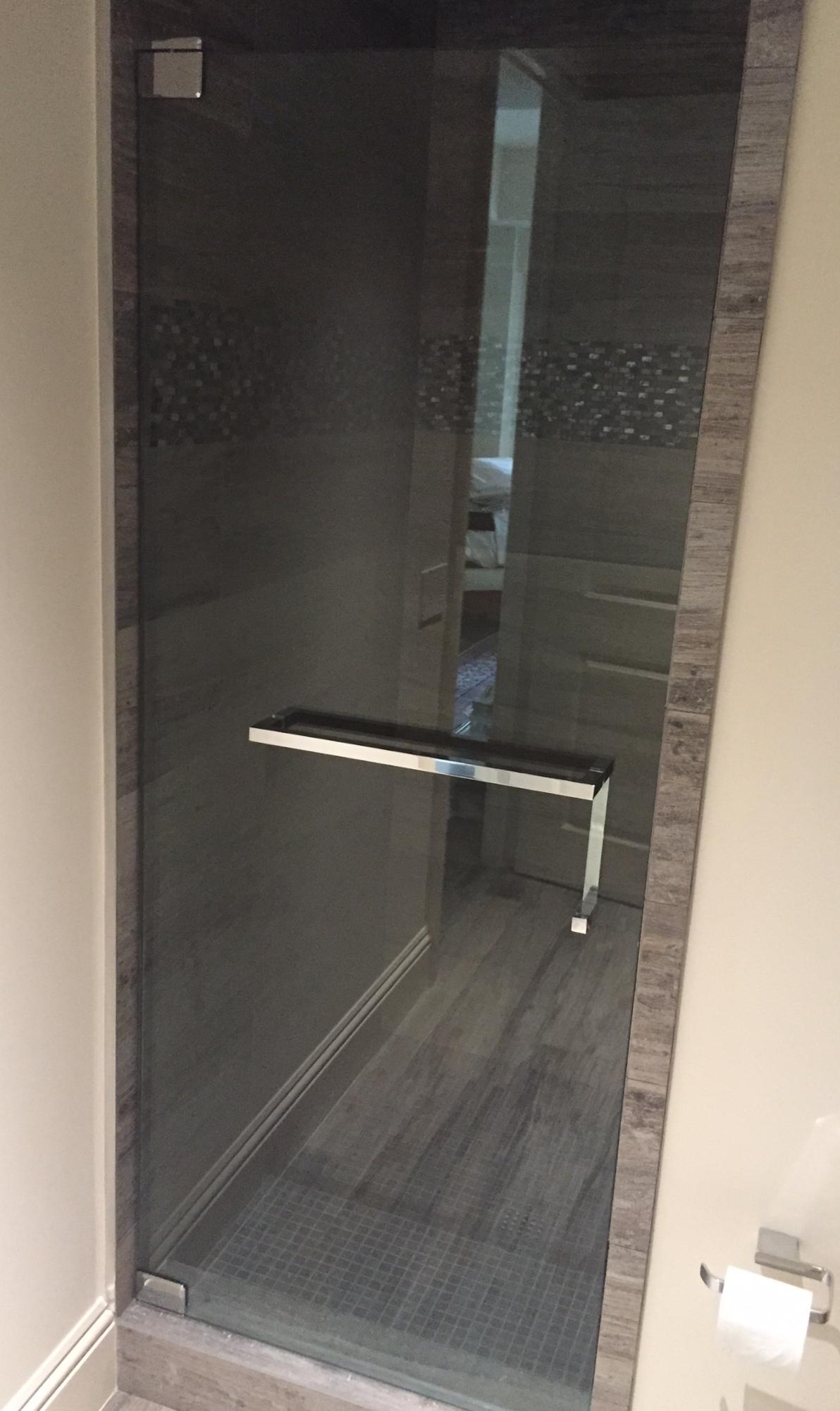 Chrome Sliding Shower Door Towel Bar Bracket1192 X 2002