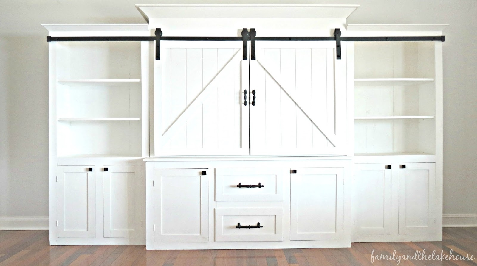 Entertainment Center Sliding Barn Doors