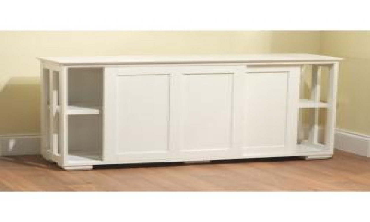 Galant Wall Cabinet With Sliding Doors White