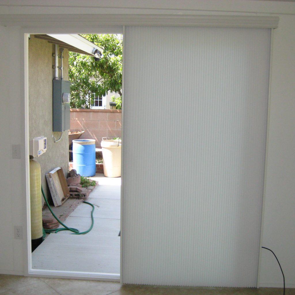 Horizontal Cellular Shades For Sliding Doors