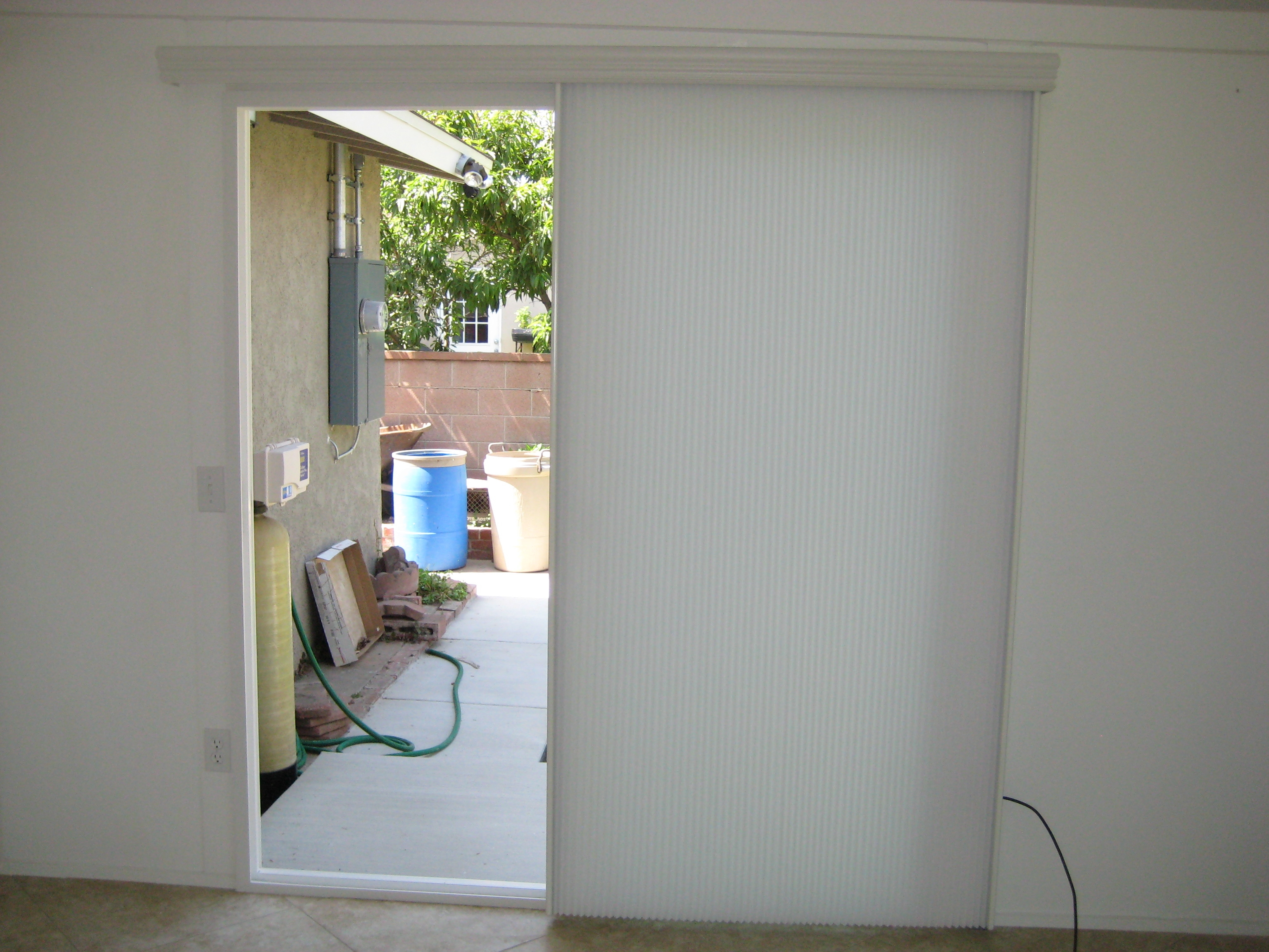 Horizontal Cellular Shades For Sliding Doors Sliding Doors