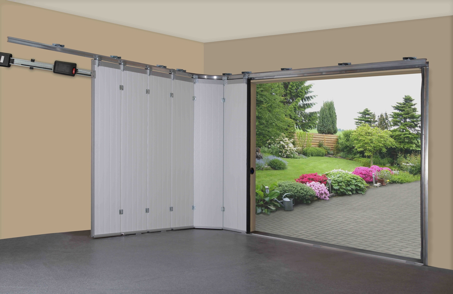 horizontal vertico garage security direct sliding door
