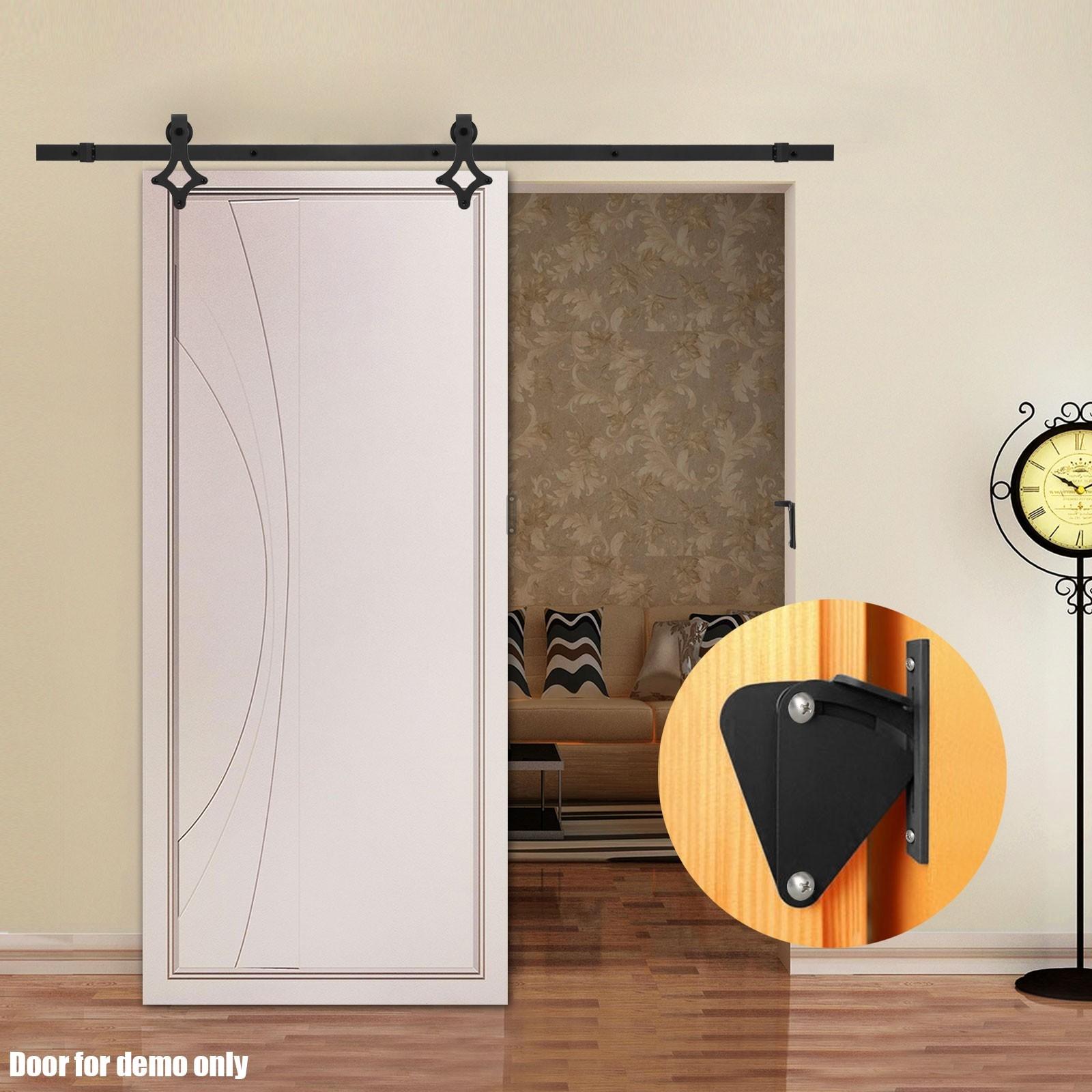 Locking Hardware For Sliding Barn Doorsvoilamart 2m sliding barn door hardware track set lock no joint