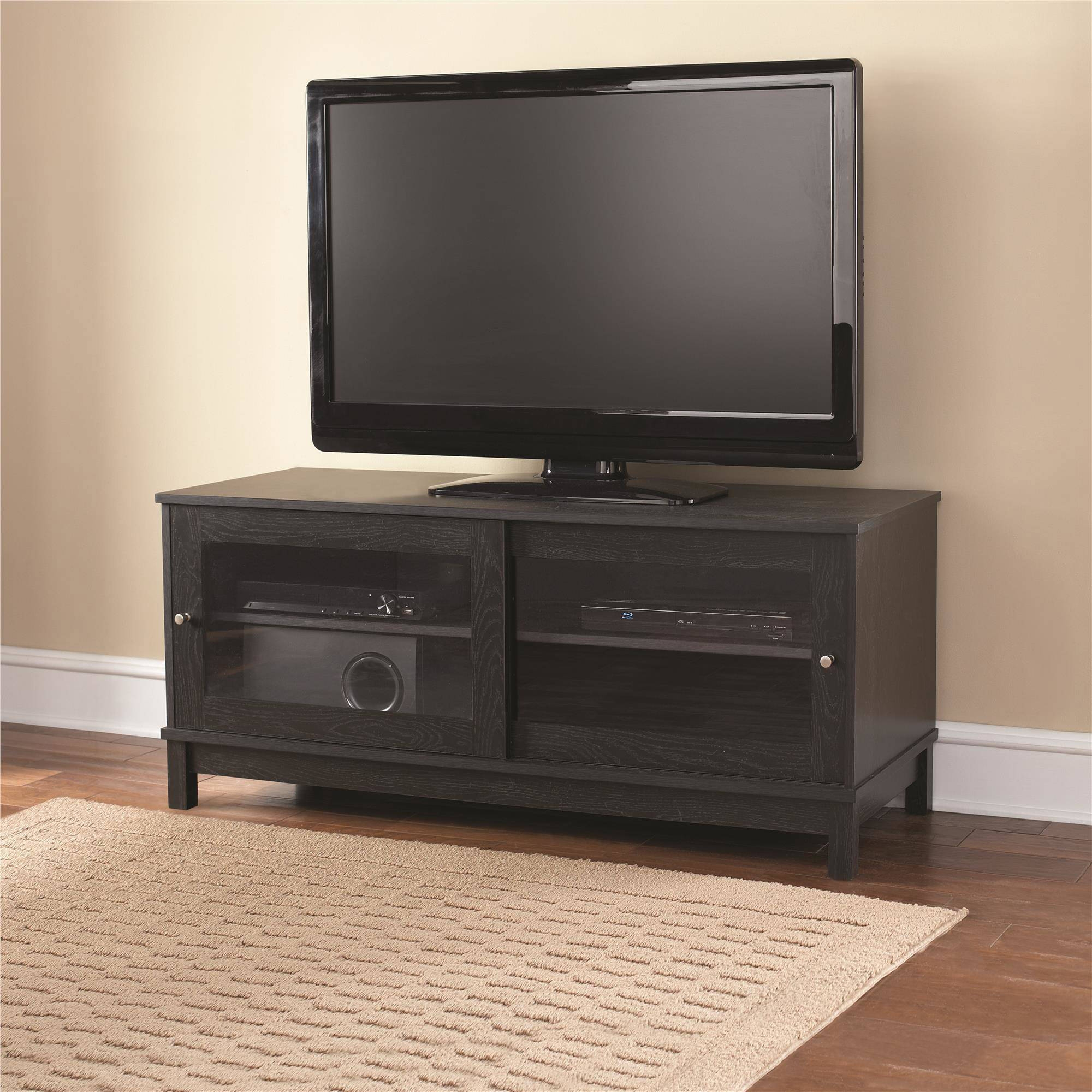 Mainstays Tv Stand With Sliding Glass Doors
