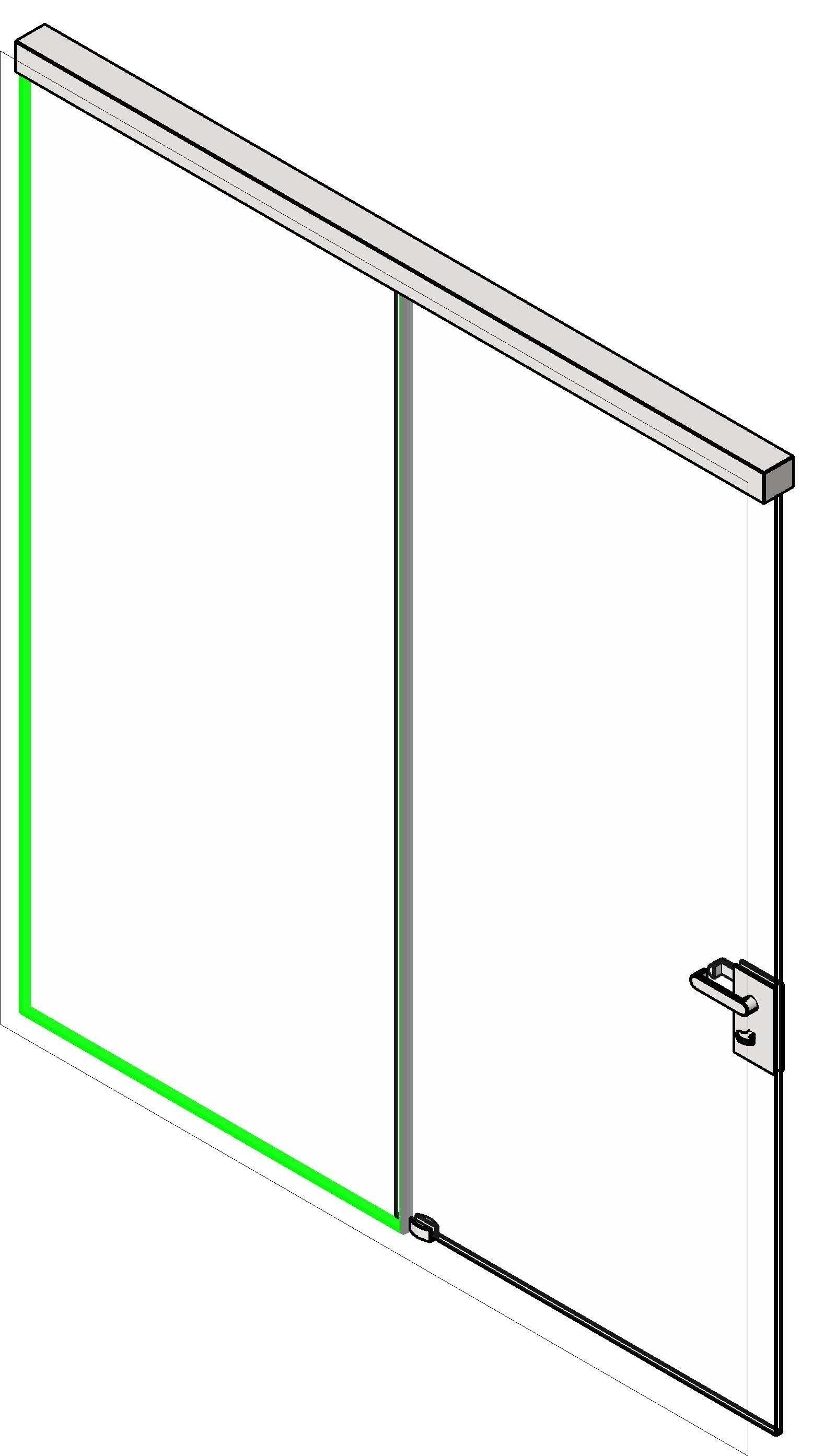 Single Panel Sliding Door Revit