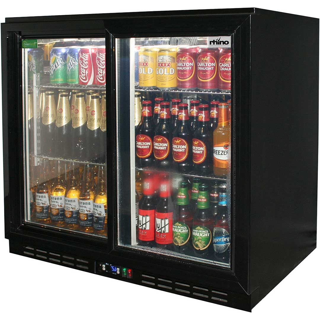 Sliding Door Beverage Refrigerator1080 X 1080