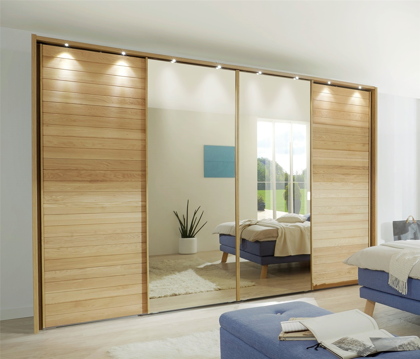 Sliding Wardrobe Doors Oak Mirror Sliding Doors