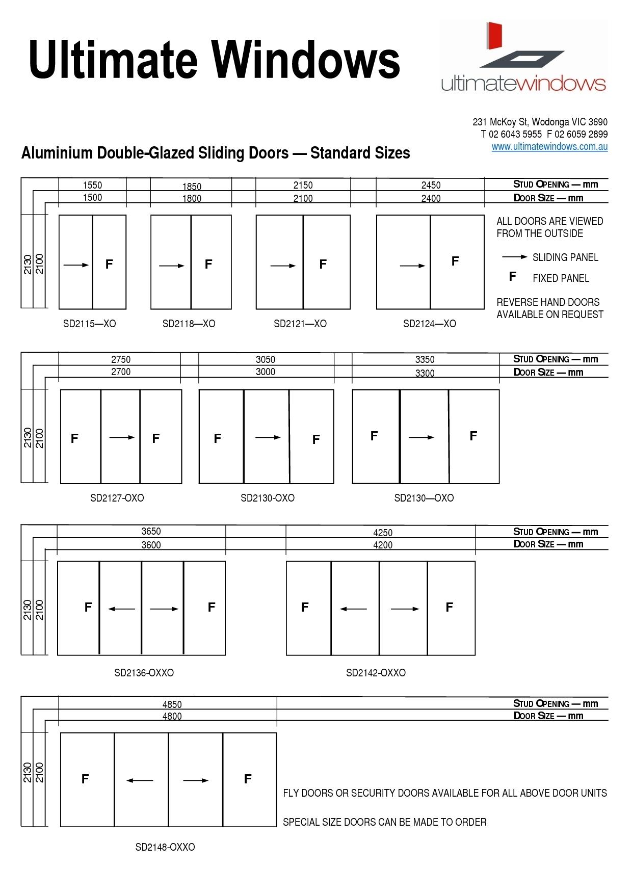 Standard Size Sliding Glass DoorsStandard Size Sliding Glass Doors