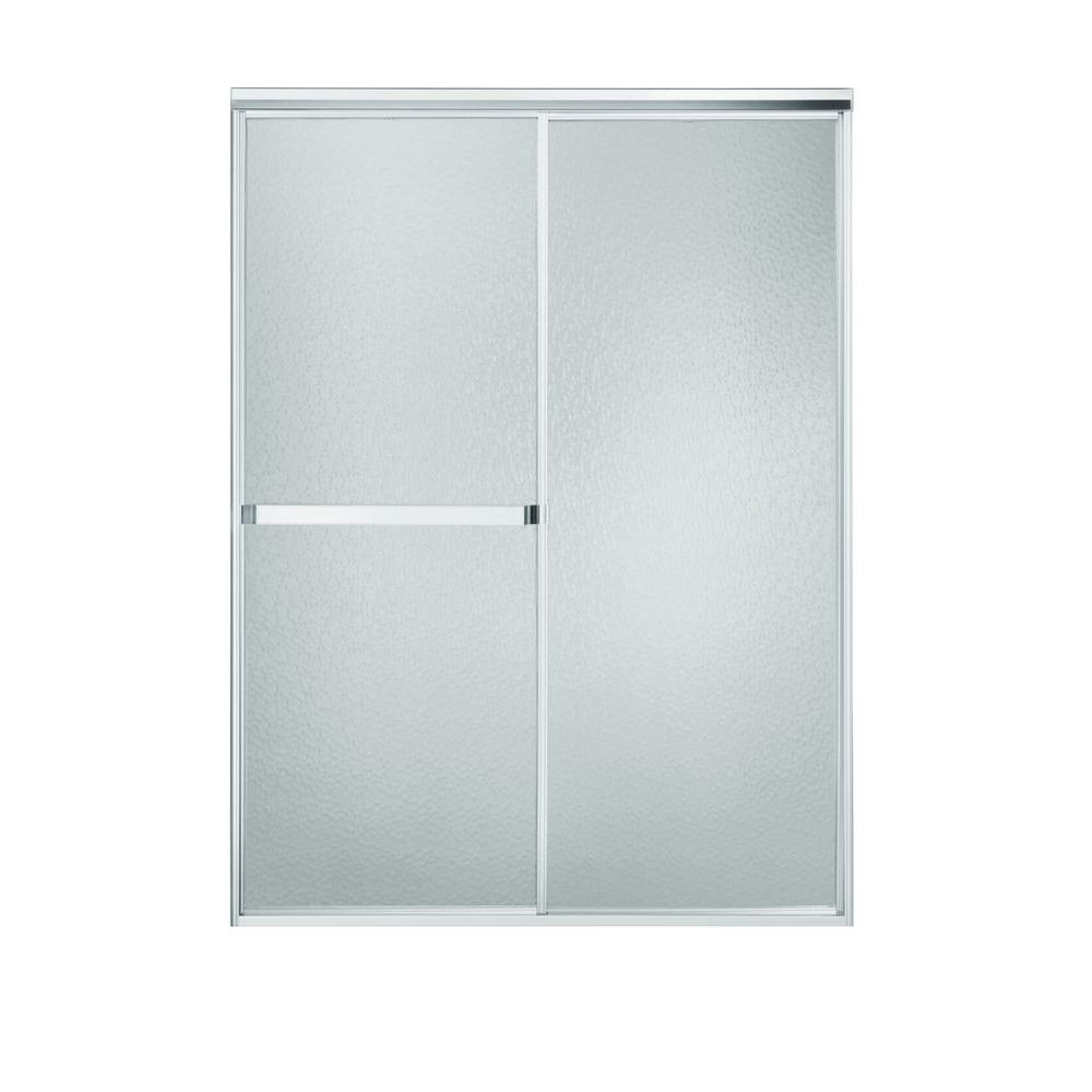 Sterling Silver Sliding Shower Doorsterling standard 52 in x 65 in framed sliding shower door in