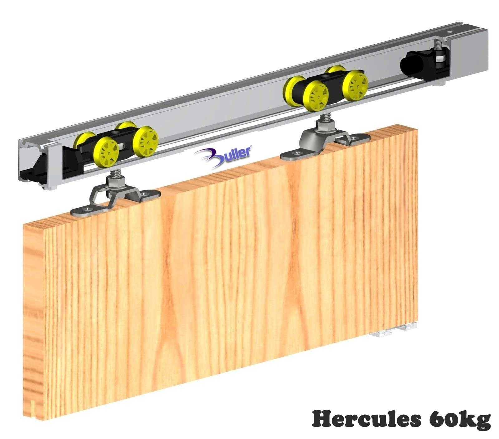 Top Hung Track Sliding Door Kithercules sliding door gear top hung track and rollers for 60kg