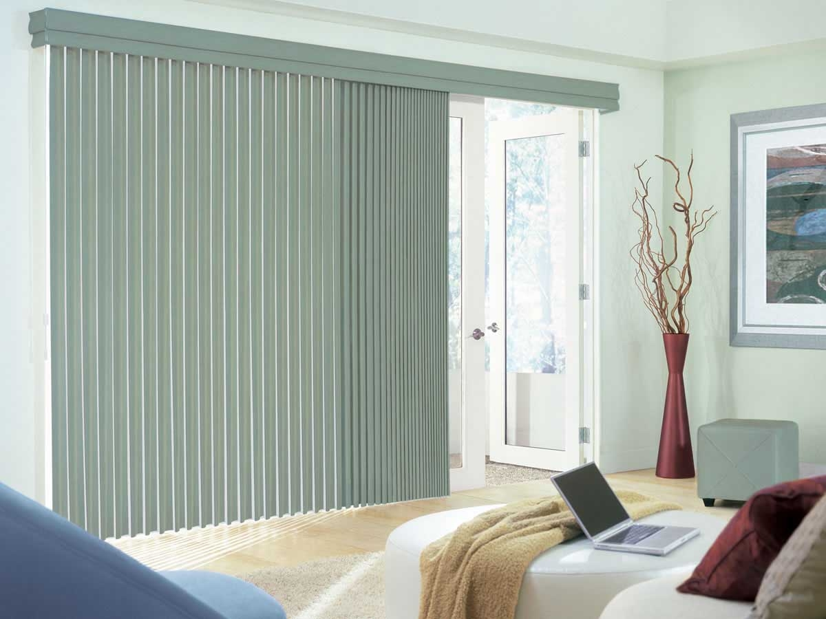 Vertical Blinds For Large Sliding Glass Doorsgray vertical blind sliding glass door treatment for decofurnish