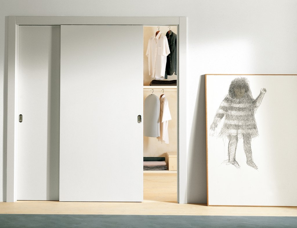 White Closet With Sliding Doors
