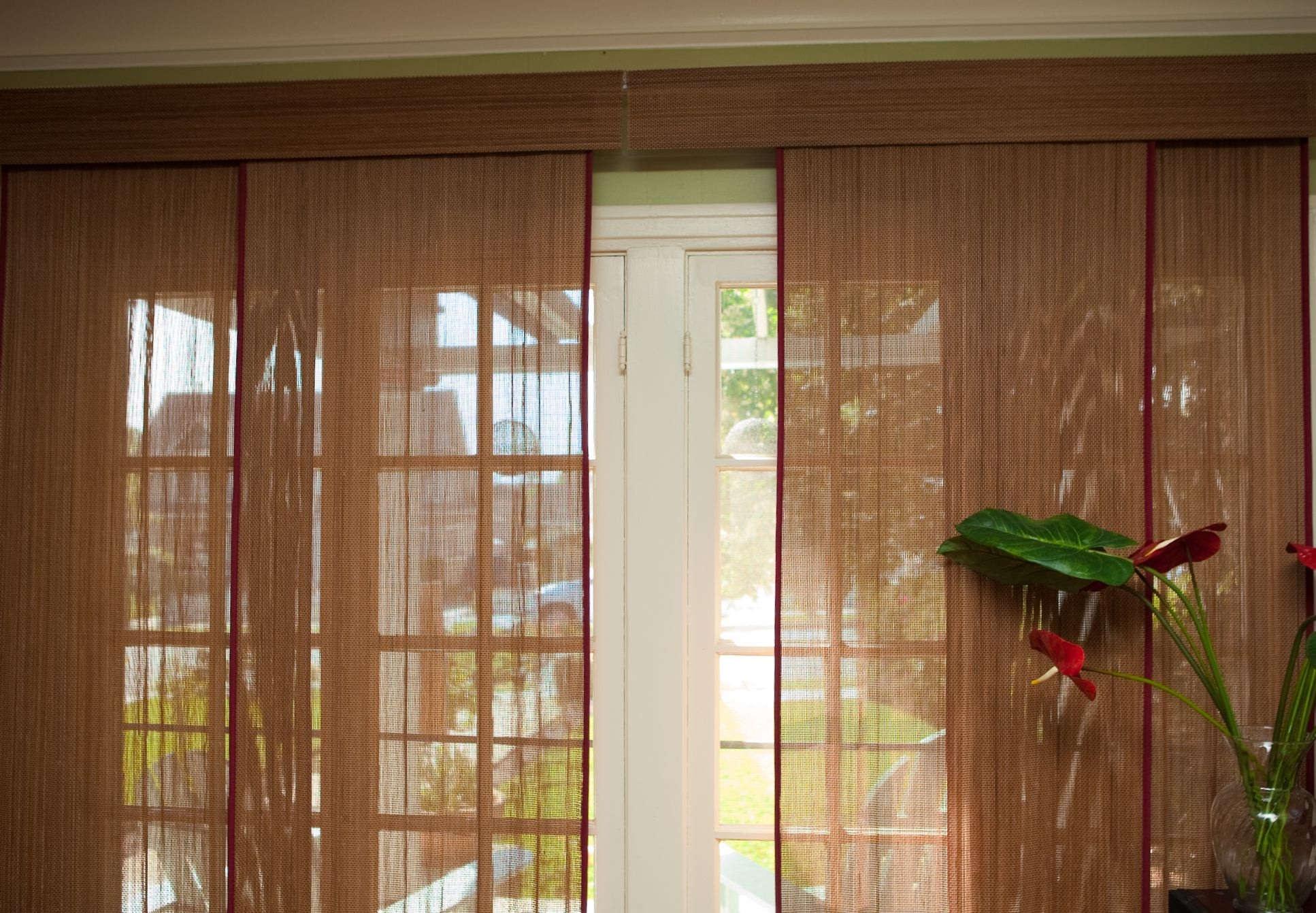 Bamboo Blinds Sliding Patio Door Sliding Doors