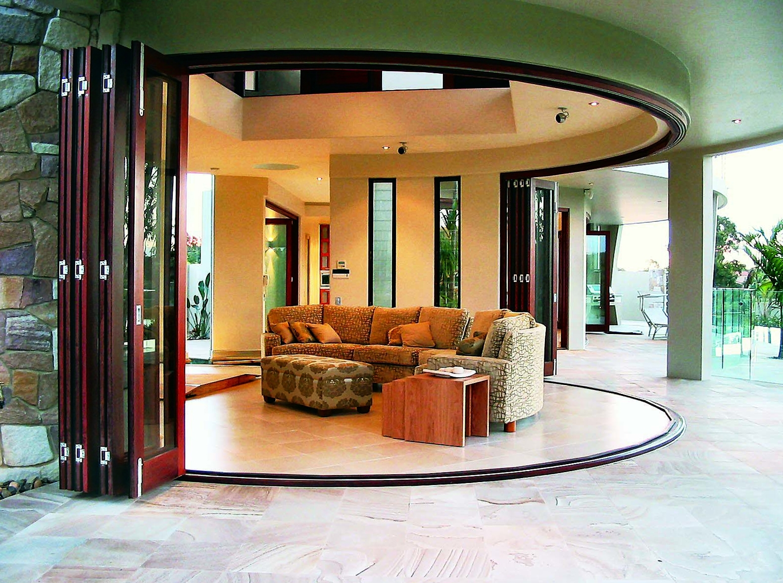 Curved Sliding Door Track Home Decor