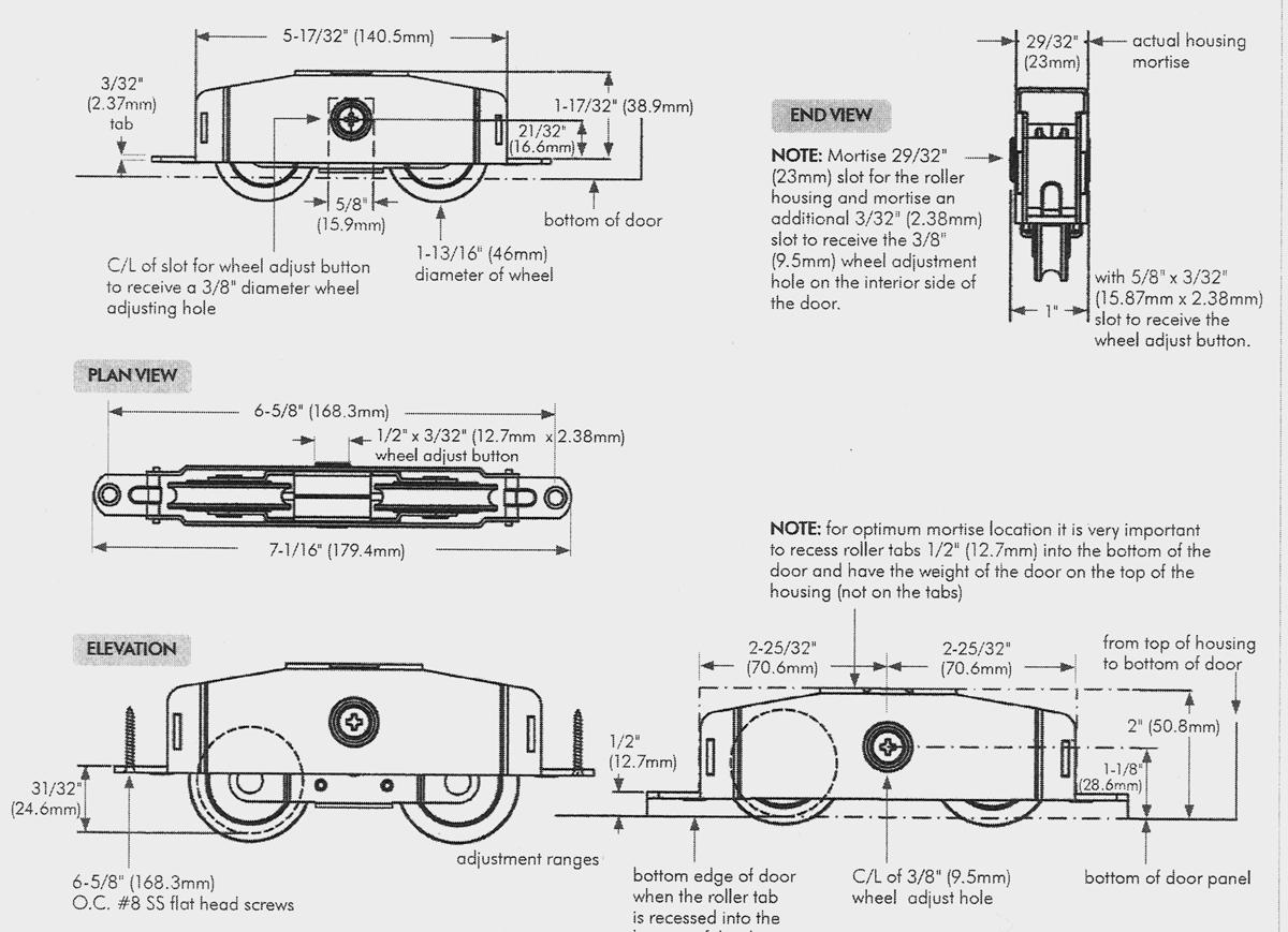 Industrial Sliding Door Bottom Rollersheavy duty bottom door track