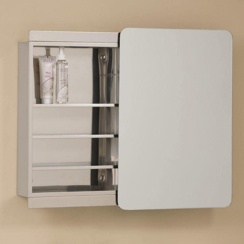 Recessed Medicine Cabinet With Sliding Mirror Doors
