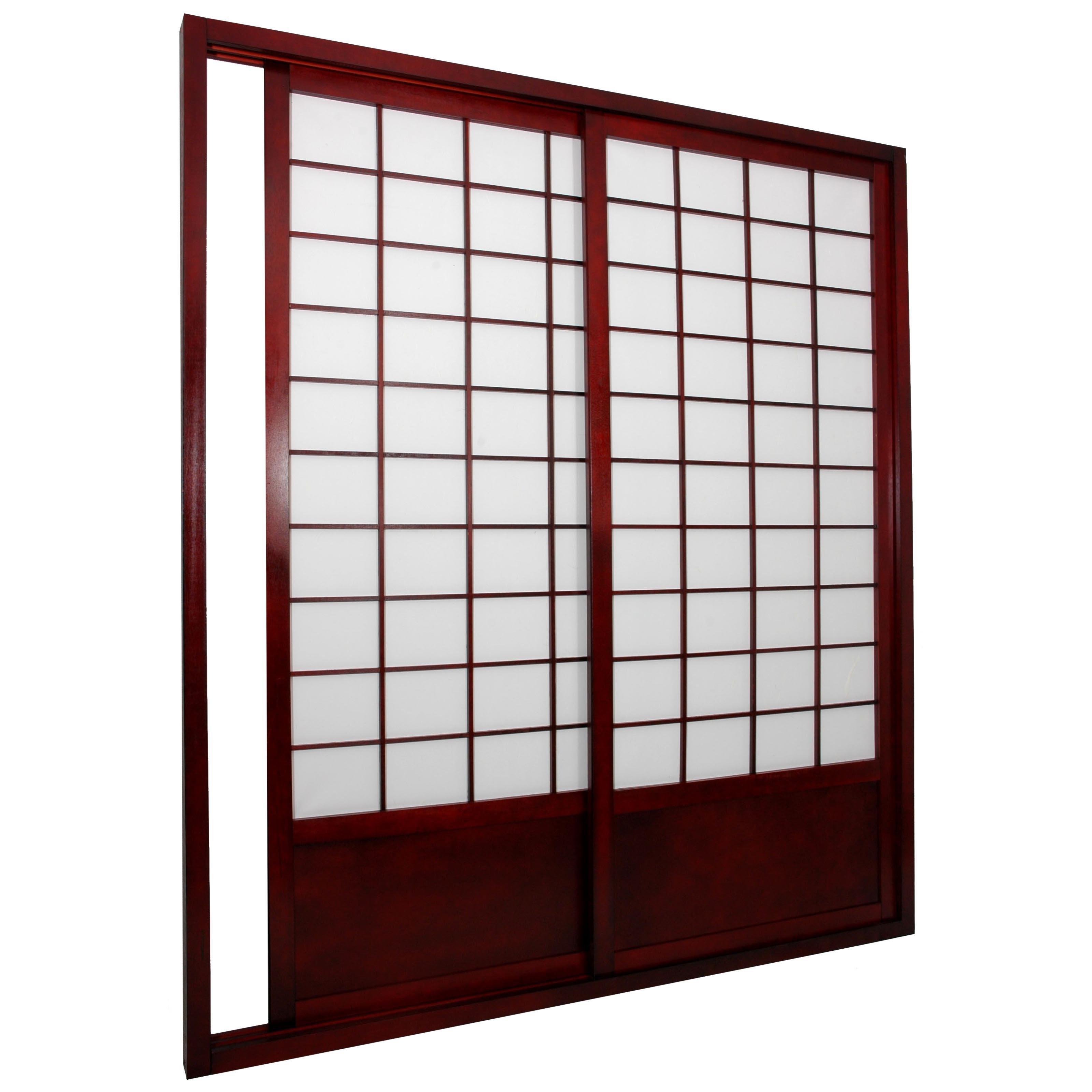 Shoji Double Sided Sliding Door Kit Room Divideroriental furniture shoji double sided sliding door kit room