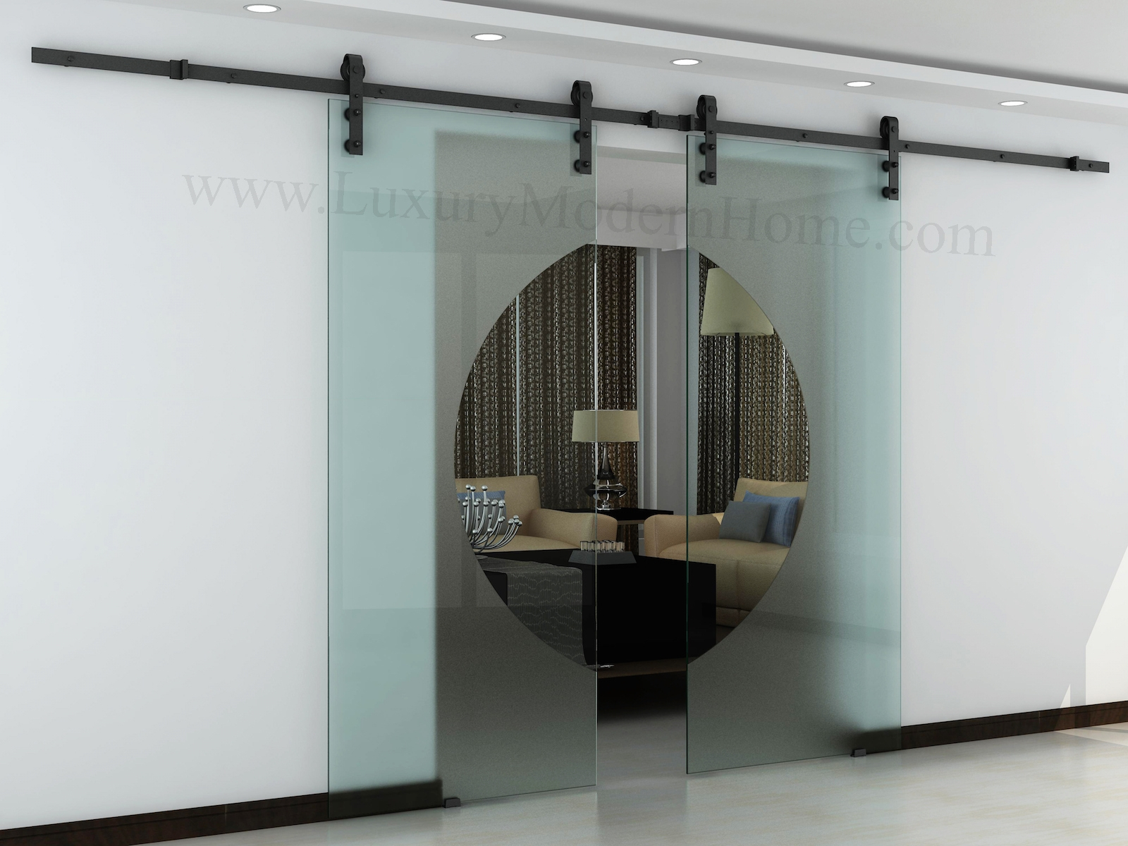Sliding Barn Door Glass Hardwareaustin double glass sliding barn door hardware idolza