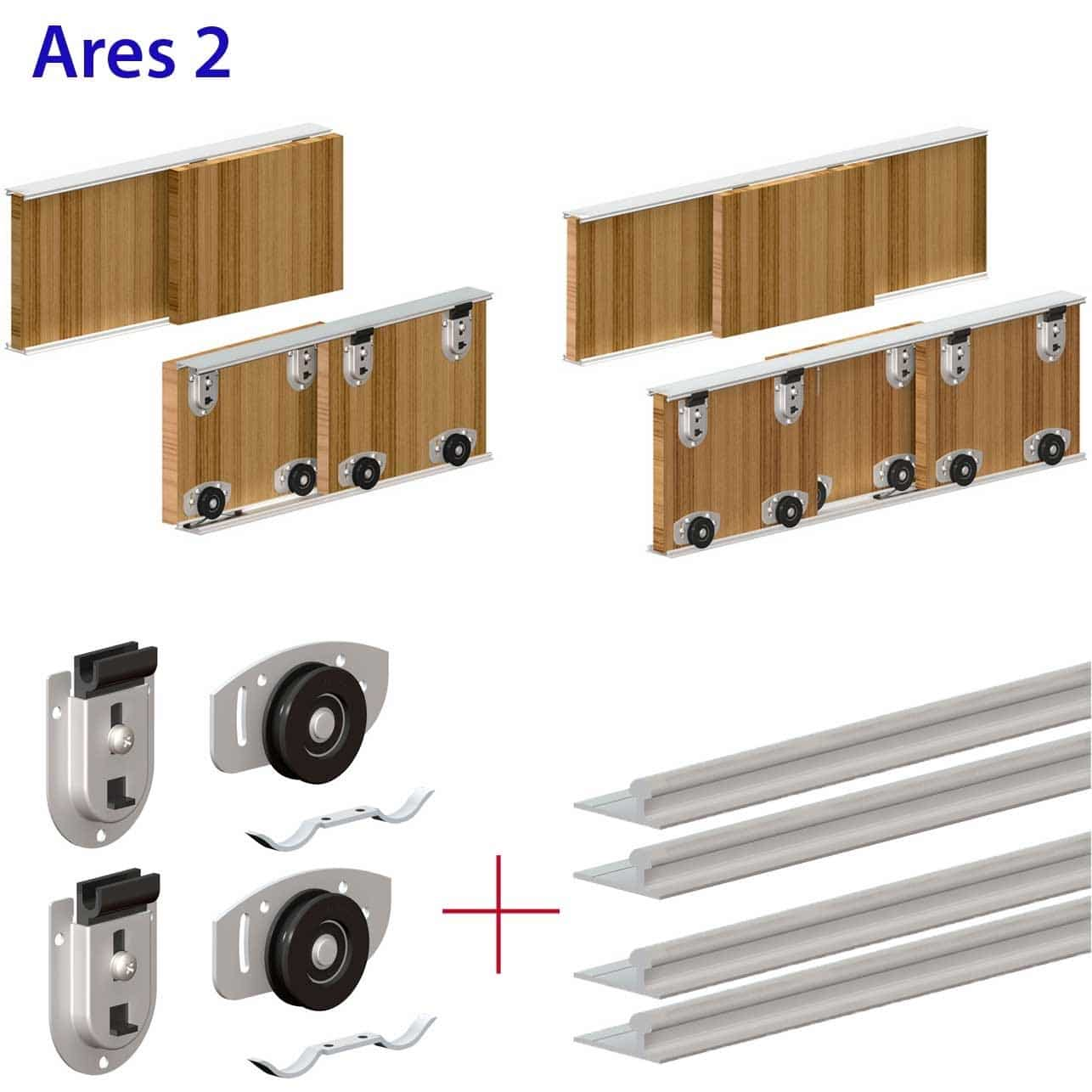 Sliding Door System Wardrobe Track Kit1286 X 1286
