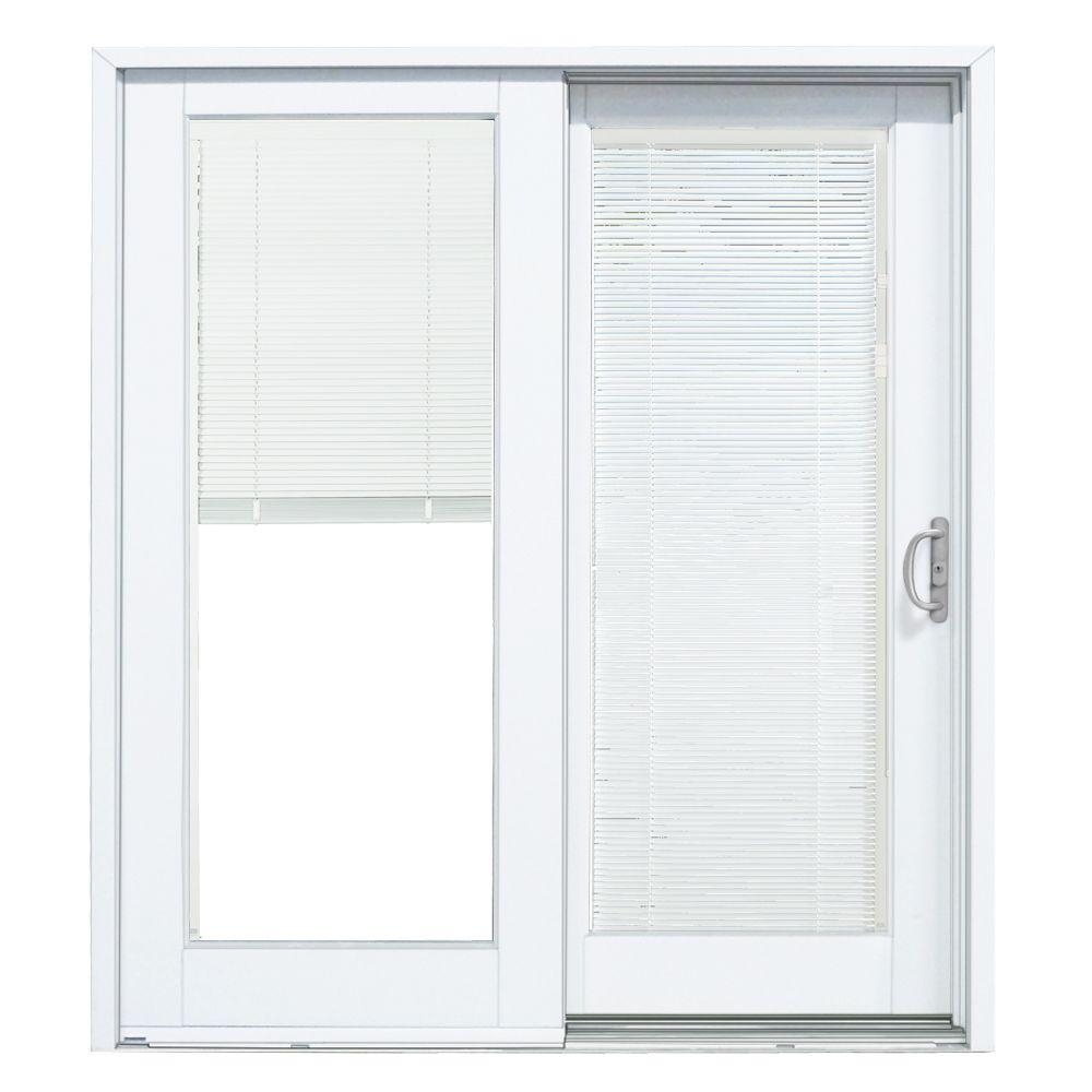 Sliding Glass Door Blinds Between Glassmp doors 72 in x 80 in smooth white right hand composite dp50