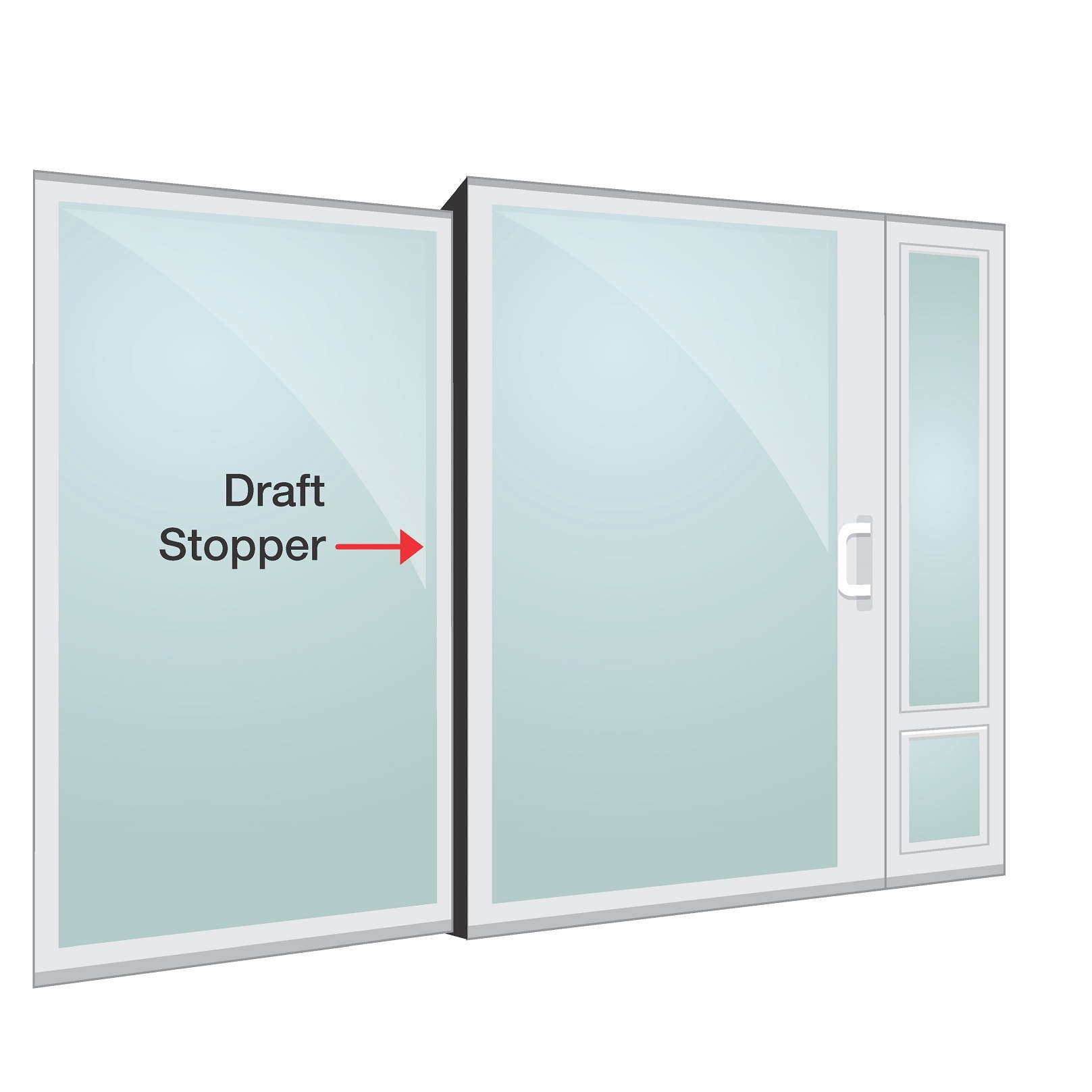 Sliding Glass Door Draft Stopper