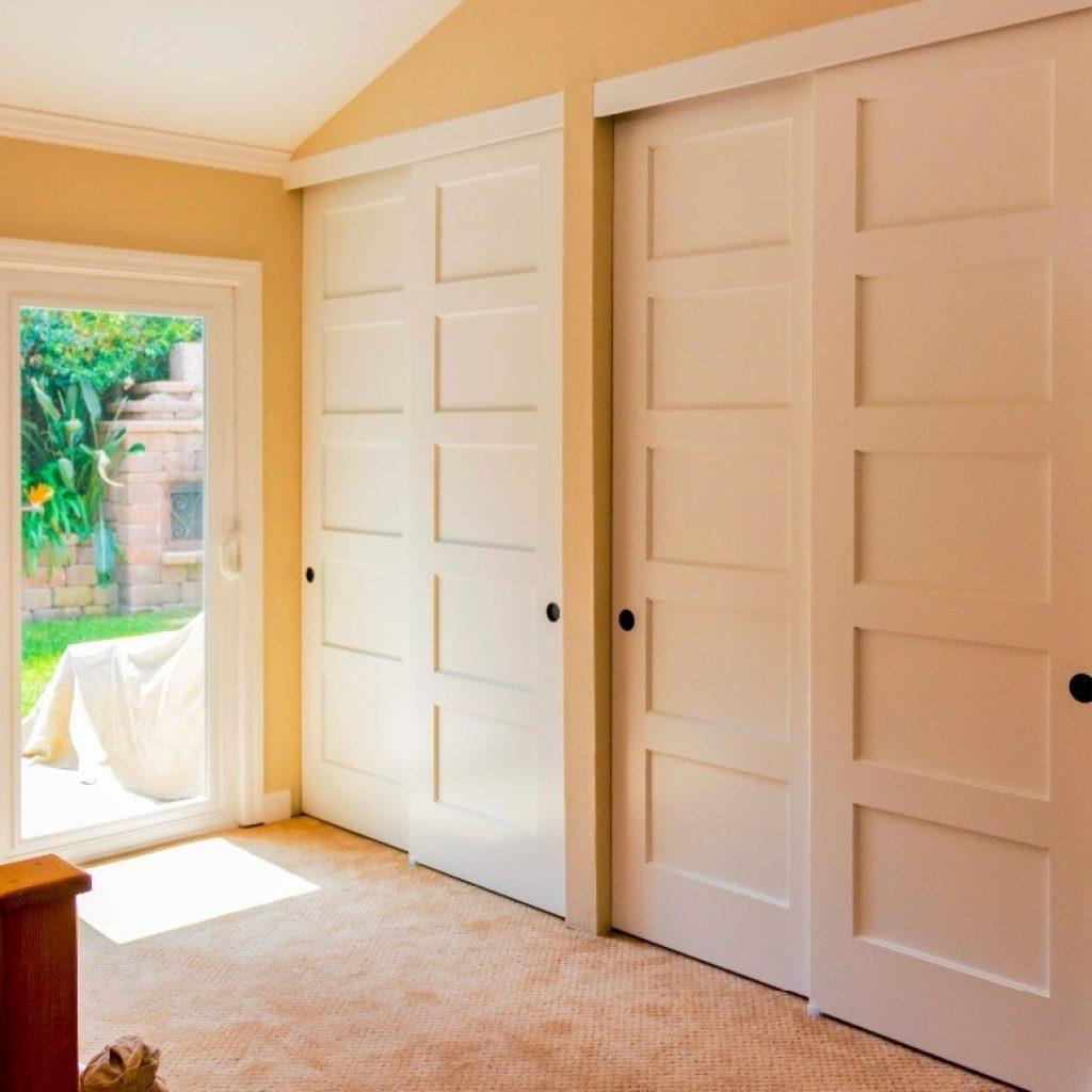 Sliding Solid Wood Closet Doors
