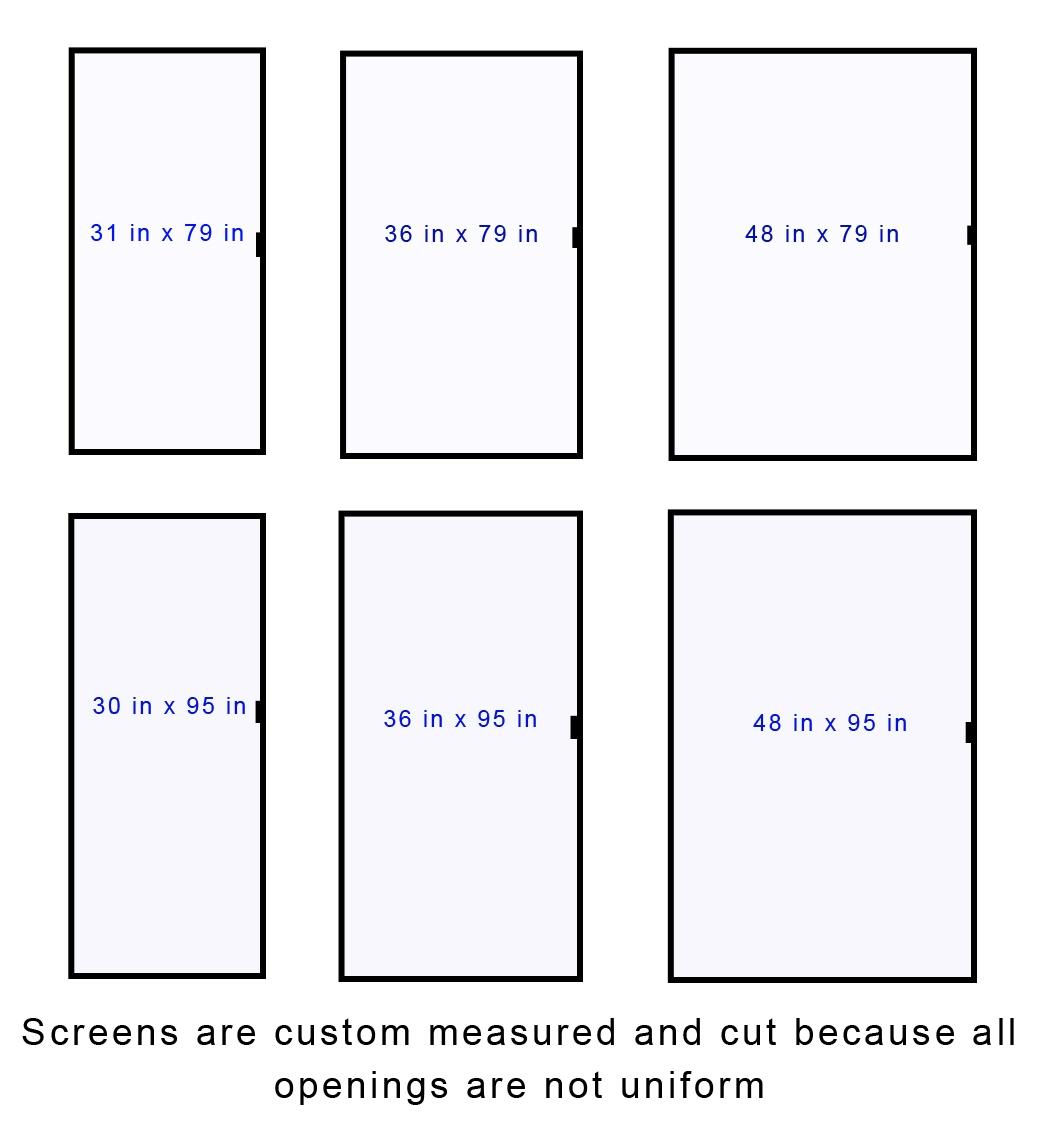 Standard Size Of Sliding Screen Door