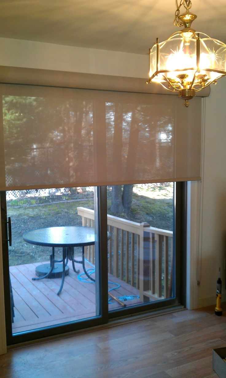 Sun Shades For Sliding Glass Doorssolar roller shade on a sliding door sliders and patio door