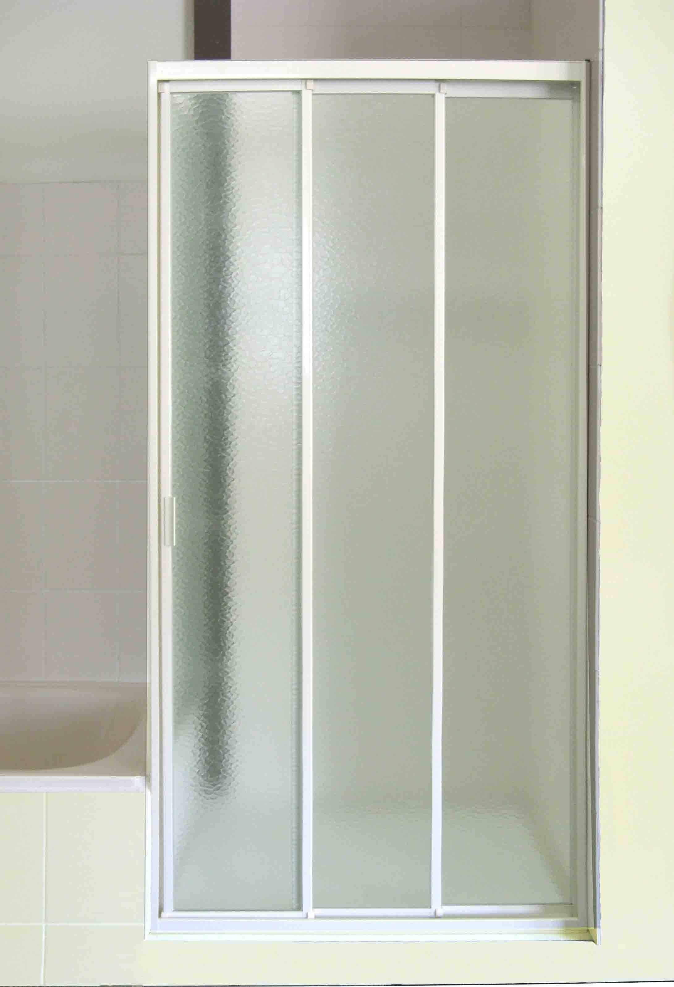 Three Panel Sliding Glass Shower DoorsThree Panel Sliding Glass Shower Doors