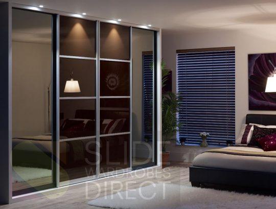 Permalink to 3 Panel Glass Sliding Closet Doors