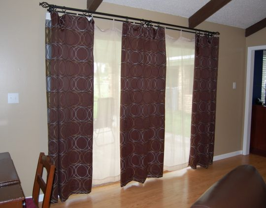 Permalink to 3 Panel Sliding Glass Door Curtains