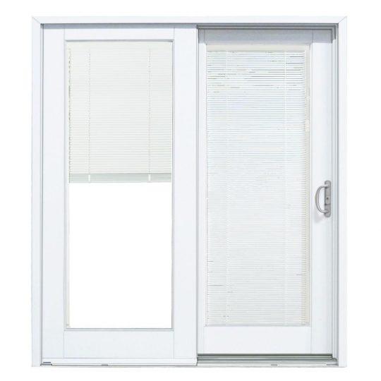 Permalink to Interior With Blinds Between Glass Sliding Patio Door