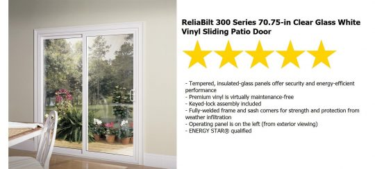 Permalink to Reliabilt Sliding Glass Doors
