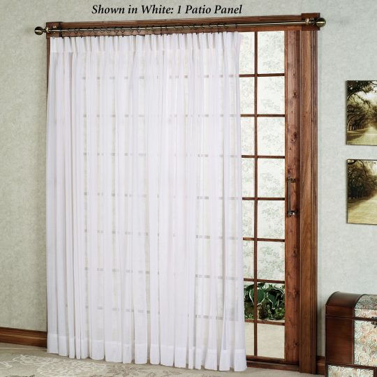 Permalink to Sheer Curtain Panels For Sliding Glass Doors