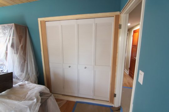 Permalink to Slatted Sliding Wardrobe Doors