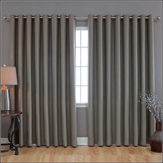 Permalink to Sliding Door Double Curtain Rod
