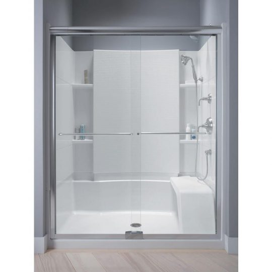 Permalink to Sterling Frameless Sliding Shower Doors