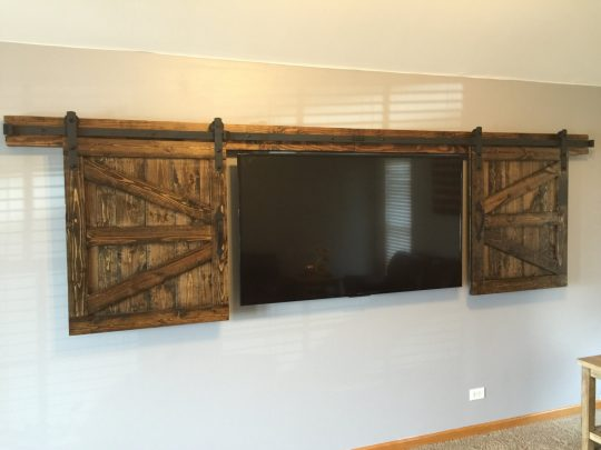Permalink to Tv Cabinet With Double Sliding Doors