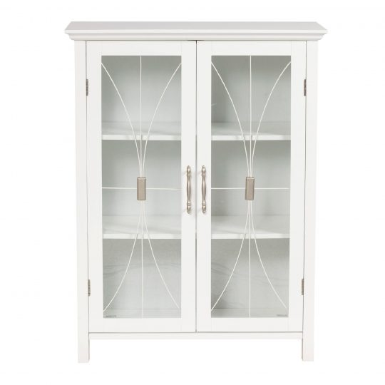 Permalink to White Wall Storage Cabinet With Sliding Glass Doors