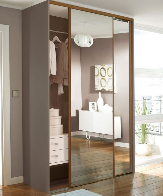 Permalink to Wood Framed Sliding Wardrobe Doors